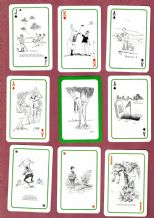 Collectible Non-standard playing cards. Golf Cartoons